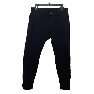 Zara Black Ribbed Denim Jeans